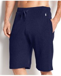 Polo Ralph Lauren - Blue Waffle Thermal Shorts for Men - Lyst