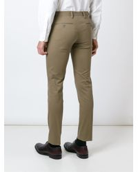 PT01 - Natural Slim Fit Trousers for Men - Lyst
