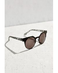 Urban Outfitters - Black Metal Cat Round Sunglasses - Lyst