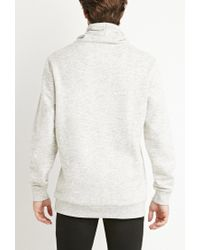 Forever 21 - Natural Heathered Funnel Neck Sweatshirt for Men - Lyst