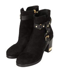TOPSHOP - Black All Theirs Side Buckle Boots - Lyst