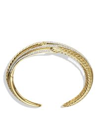 David Yurman - Metallic Labyrinth Triple-loop Cuff Bracelet With Diamonds And Gold - Lyst