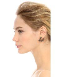 Elizabeth Cole | Black Geri Earrings - Hematite/gold | Lyst