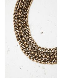 Forever 21 - Metallic Chunky Curb Chain Necklace - Lyst