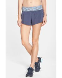 Zella | Blue 'speedster' Running Shorts | Lyst
