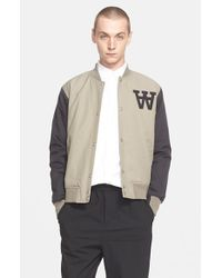 WOOD WOOD | Brown 'billie' Varsity Jacket for Men | Lyst