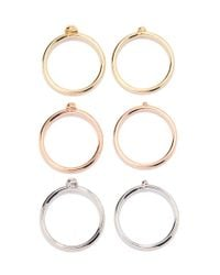 Forever 21 | Metallic Mixed Metal Ring Set | Lyst