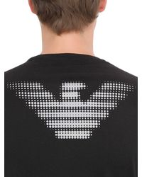 EA7 | Black Train Graph Cotton Long Sleeve T-shirt for Men | Lyst