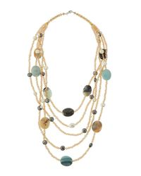 Panacea - Multicolor Five-layer Station Statement Necklace - Lyst