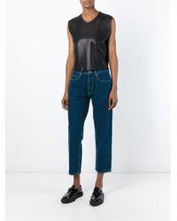 AALTO - Blue Cropped Jeans - Lyst