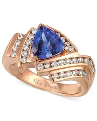 Le Vian | Blue Tanzanite (1-1/3 Ct. T.w.) And Diamond (1/2 Ct. T.w.) Ring In 14k Rose Gold | Lyst