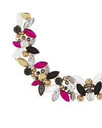 River Island - Pink Multi Stone Short Necklace - Lyst