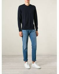 Giorgio Armani - Blue Regular Fit Jeans for Men - Lyst