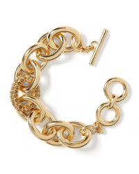 Banana Republic - Metallic Pave Link Bracelet - Lyst