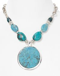 Robert Lee Morris | Blue Large Turquoise Pendant Necklace 18 | Lyst