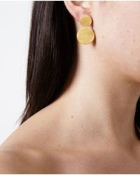 Marie-hélène De Taillac | Metallic 22k Yellow Gold Disk Earrings | Lyst