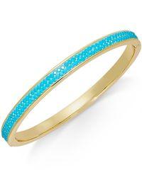 Kate Spade | Blue Pavé Bangle Bracelet | Lyst