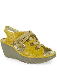 Fly London | Yellow Ylva Leather Slingback | Lyst