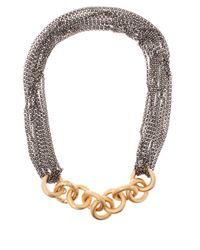 Annoushka - Metallic Bronze And Silver Short Foundry Necklace - Lyst