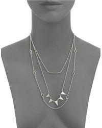 Cara | Metallic Geo Multi-row Necklace | Lyst