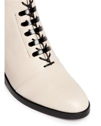 3.1 Phillip Lim - Natural 'alexa' Lace-up Leather Boots - Lyst