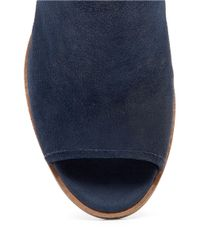 Lucky Brand | Blue Lisza Leather Booties | Lyst
