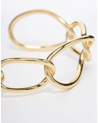 ASOS | Metallic Open Links Cuff Bracelet | Lyst