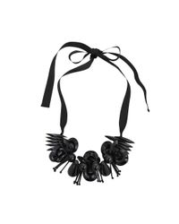Marni | Black Resin And Satin Necklace | Lyst
