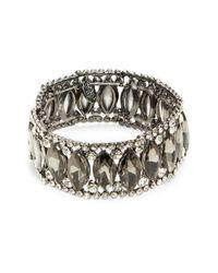 Cara | Metallic Teardrop Stone Tennis Bracelet | Lyst