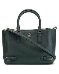 Tory Burch - Green Buckle Detail Tote - Lyst