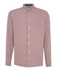 GANT | Red Classic Gingham Shirt for Men | Lyst