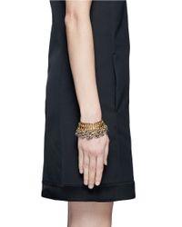 Ela Stone - Metallic Baker Leopard Print Chain Bracelet - Lyst