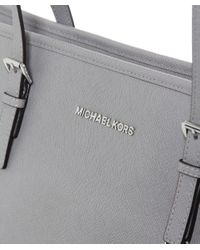 MICHAEL Michael Kors | Gray Jet Set Top-zip Large Travel Tote Bag | Lyst