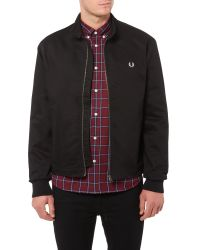 Fred Perry - Black Scooter Full Zip Jacket for Men - Lyst