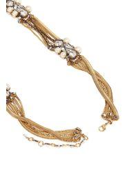 Erickson Beamon - Metallic 'stratosphere' Crystal Chain Drop Earrings - Lyst