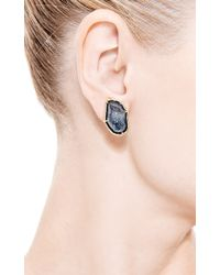 Kimberly Mcdonald | Blue One Of A Kind Dark Geode Clip On Earrings | Lyst