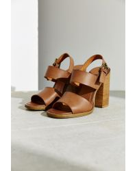 Urban Outfitters | Brown Clean Strap Heel | Lyst