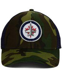 Reebok - Green Winnipeg Jets Camo Trucker Cap for Men - Lyst