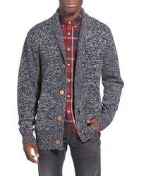 Barney Cools - Blue 'cabin' Shawl Collar Cardigan for Men - Lyst