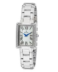 Bulova | Metallic Women's Diamond White Mop Dial Stainless Steel | Lyst