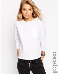 ASOS - White Tall The Ultimate Pocket Long Sleeve - Lyst