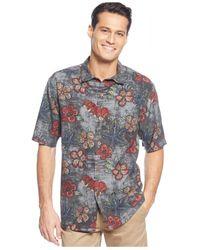 Tommy Bahama | Black Floral-print Short-sleeve Shirt for Men | Lyst