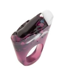 Pasionae - Purple Murano Ring Translucent Base - Love - Lyst
