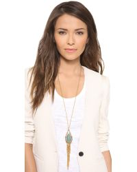 Alexis Bittar - Blue Feathered Tassel Pendant Necklace - Lyst