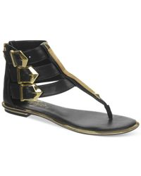 Fergie - Black Sammy Flat Gladiator Thong Sandals - Lyst