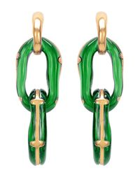 Oscar de la Renta | Green Resin Link Clip-on Earrings | Lyst