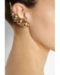 Erickson Beamon | Metallic Velocity Gold-Plated Swarovski Crystal Earrings | Lyst