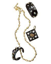 Ashley Pittman - Black Sifa Dark Horn Cuff Bracelet - Lyst