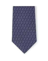 Jaeger | Blue Silk Geometric Flower Tie for Men | Lyst