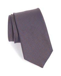 John W. Nordstrom - Brown John W. Nordstrom 'tango' Check Silk Tie for Men - Lyst